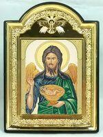 """Иоанн Креститель, икона пластиковая большая """"Голубь"""" 14 Х 19"""