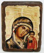Казанская Б.М., икона под старину, сургуч (13 Х 17)