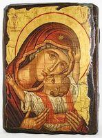 Кардиотисса Б.М., икона под старину, сургуч (13 Х 17)