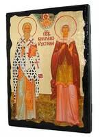 Киприан и Устинья, икона синайская, 13 Х 17