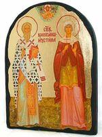 Киприан и Устинья, икона синайская, арка, 17 Х 23