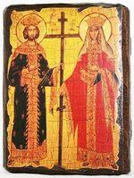 Константин и Елена, икона под старину, сургуч (13 Х 17)
