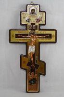 Крест подвесной деревянный (02)