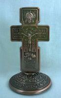 Крест настольный металлический (113)
