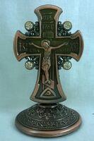 Крест настольный металлический (140)