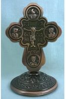 Крест настольный металлический (154)