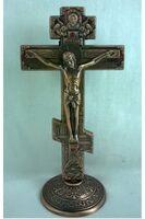 Крест настольный металлический (059), цвет медь