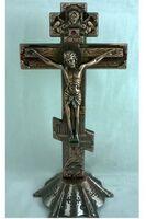 Крест настольный металлический (060), цвет медь