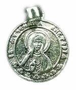 Образок нательный литой (69) Св.Вл.Муч. Анастасия, цвет серебро
