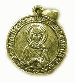 Образок нательный литой (1) Ангелина, Св. Прав., цвет золото