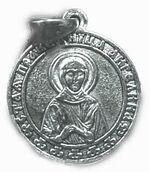 Образок нательный литой (02) Ангелина, Св. Прав., цвет серебро