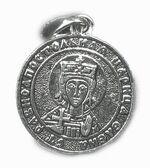 Образок нательный литой (50) Св.Рв.Ап.Цр. Елена, цвет серебро