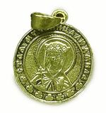 Образок нательный литой (55) Св.Муч. Людмила, цвет золото
