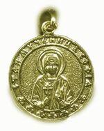 Образок нательный литой (63) Св.Муч.София, цвет золото