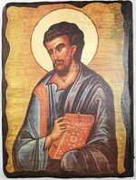 Евангелист Лука, икона под старину, сургуч (13 Х 17)