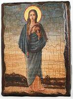 Мария-Магдалина, Св.Муч., икона под старину, сургуч (13 Х 17)