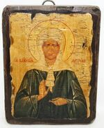 Матрона Московская, икона под старину, сургуч (13 Х 17)