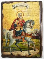 Мина Котуанский, икона под старину, сургуч (13 Х 17)