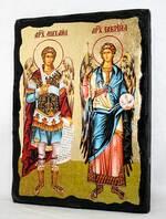 Михаил и Гавриил, икона синайская, 13 Х 17