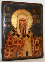 Михаил Митрополит Киевский, икона под старину, сургуч (13 Х 17)