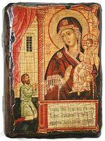 Нечаянная радость Б.М., икона под старину, сургуч (13 Х 17)