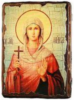 Ника, Св.Муч, икона под старину, сургуч (13 Х 17)