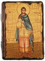 Никита, Св.Муч, икона под старину, сургуч (13 Х 17)