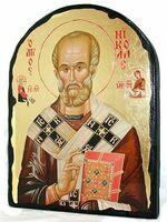 Николай Чудотворец, икона синайская, арка, 17 Х 23