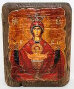 Неупиваемая чаша Б.М., икона под старину, сургуч (13 Х 17)
