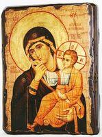 Отрада и Утешение Б.М., икона под старину, сургуч (13 Х 17)
