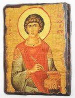Пантелеймон, икона под старину, сургуч (13 Х 17)