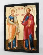 Петр и Павел (рост), икона синайская, 13 Х 17