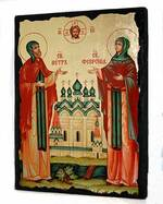 Петр и Феврония, икона синайская, 13 Х 17