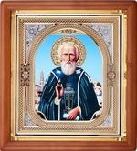 Сергий Радонежский, икона аналойная, риза, упаковка, (23 Х 26)