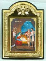 """Рождество Христово, икона пластиковая большая """"Голубь"""" 14 Х 19"""