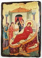 Рождество Пр.Б., икона под старину, сургуч (13 Х 17)