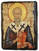 Рустик, Св.Муч, икона под старину, сургуч (13 Х 17)