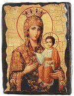 Самонаписавшаяся Б.М., икона под старину, сургуч (13 Х 17)