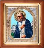 Серафим Саровский, икона аналойная, риза, упаковка, (23 Х 26)