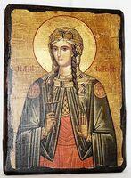 Светлана, Св.Муч, икона под старину, сургуч (13 Х17)