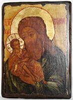 Симеон Богоприимец, икона под старину, сургуч (13 Х 17)