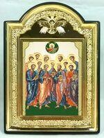 """Собор 12 апостолов, икона пластиковая большая """"Голубь"""" 14 Х 19"""