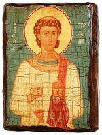 Стефан Первомученик, икона под старину, сургуч (13 Х 17)