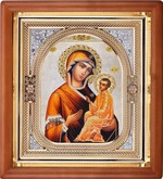Тихвинская Б.М., икона аналойная, риза, упаковка, (23 Х 26)