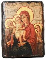 Трех Радостей Б.М., икона под старину, сургуч (13 Х 17)
