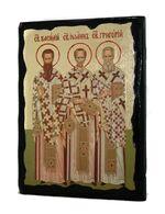 Три Святителя (Василий, Иоанн, Григорий), икона синайская, 13 Х 17