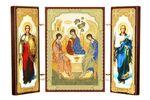 Складень МДФ (10), тройной, Троица с архангелами, 13 Х 8