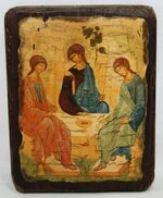 Троица, икона под старину, сургуч (13 Х 17)