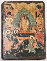 Успение Пр.Б., икона под старину, сургуч (13 Х 17)