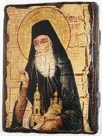 Феодор Санаксарский, Св.Прп., икона под старину, сургуч (13 Х 17)